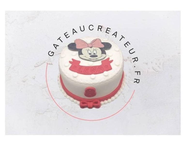 Un beau gâteau Minnie à offrir pour l'anniversaire de votre petite fille