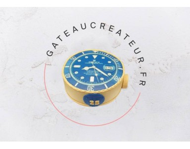 Gateau anniversaire adulte : un gateau montre Rolex pour les hommes élégants