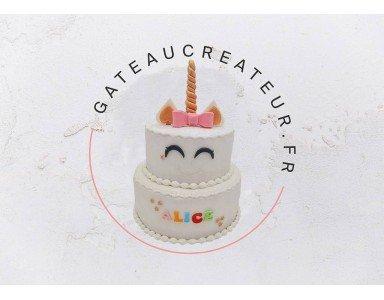 Avec un gateau pate a sucre, choisissez un thème pour une fête moderne et personnalisée