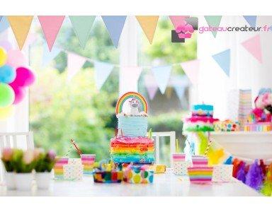 Le rainbow cake, voyez la vie en multicolore !
