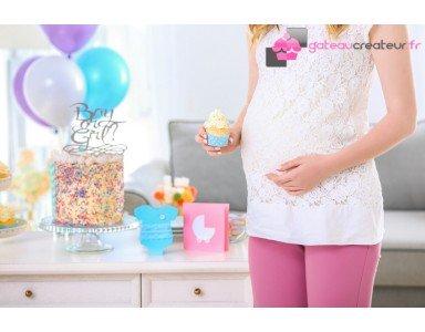 Annoncez le sexe de votre futur bébé grâce à nos gâteaux à thème !