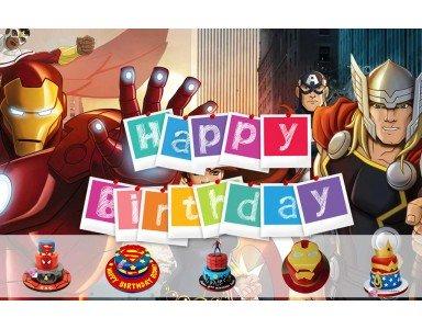 Commander un gâteau du super héros préféré de votre enfant pour son anniversaire:  succés assuré .